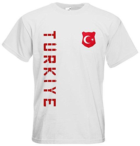 Türkei Türkiye T-Shirt Trikot Name Nummer Weiß