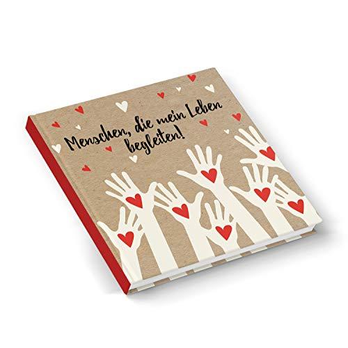 Stamm Quadratischen Form (Logbuch-Verlag Freundebuch Familienbuch MENSCHEN DIE MEIN LEBEN BEGLEITEN leeres Buch zum Selberschreiben quadratisch 21 x 21 cm für Erwachsene + Kinder)