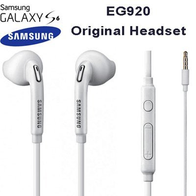 Samsung EG920 Original In-Ear Ohrhörer Galaxy S6 Edge SM-G925F (Ohrstöpsel, 3,5mm Stecker, Stereo Sound) weiß
