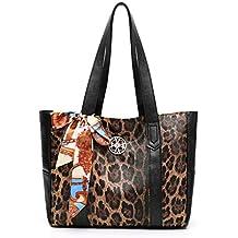Segater® Borsa da donna con stampa leopardo superiore borsetta Elegante  borsa a tracolla da donna 901bce30888