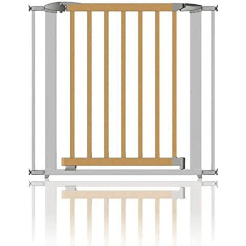 Clippasafe Cancelletto Swing Shut Estendibile - Argento e Legno