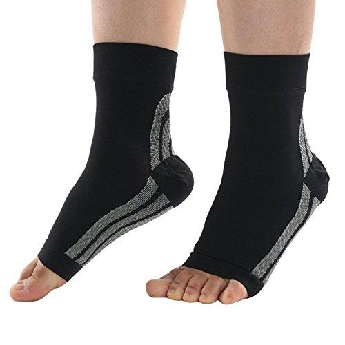 Prom-near Kompressionssocken Kompressionsstrümpfe Fußgelenk Bandage Knöchelbandage Fußgelenkstütze, Schmerzlinderung, Blutzirkulation Behilflich, für Damen und Herren