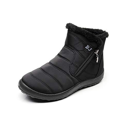 promo code 12523 895b8 Zapatos Mujer Botas de Nieve Invierno Forro Calentar Tobillo Al Aire Libre  Zapatillas Altas Outdoor Antideslizante