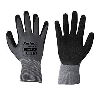 12 Paar Arbeitshandschuhe mit Latexbeschichtung Gr. 8 grau Montagehandschuhe Gartenhandschuhe Arbeitsbekleidung Sicherheitshandschuhe Schutzhandschuhe