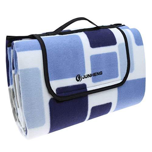 JUNHENG Picknickdecke Wasserdichter Unterseite Stranddecke 200 x 200 cm, Tragbar Faltbare Outdoor-Decke für Strandwanderungen Reise Camping