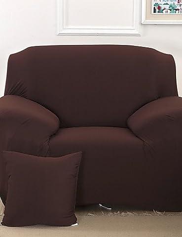 zzlovehome-home imperméable Housse de Canapé en microfibre solide Mini Cube/inclinable pour maison meubles Housse Housse de chaise, beige, chair cover