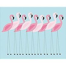 """Hawaii /"""" Schreibtischunterlage // Unterlage 50 /"""" Flamingo /& Hibiskus Blume"""