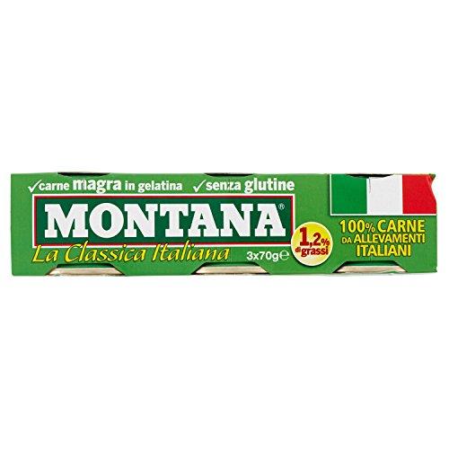 Montana Carne magra gelatina 210 g 3 lattine