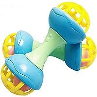 Wudi 1PC del traqueteo del bebé de la Bola Shake and Roll Bola del Juguete del bebé del niño de la Mano Agarre Catch Sacudiendo Campanas (Fitness con Mancuernas)