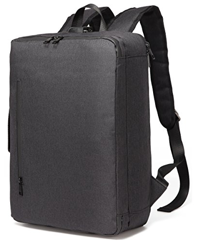 Aspen Sport 15-15.6 Zoll umwandelbar Laptop Tasche/Rucksack Messenger Bag Business Aktentasche  Laptop Backpack für Dell Alienware/MacBook/Lenovo/HP,Schwarz
