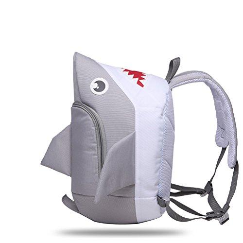 Vicloon Verspielt Kinder High Capacity Kinder Schule Bag Rucksack Lunch Boxes Tragen Umhängetasche (Grau) Grau