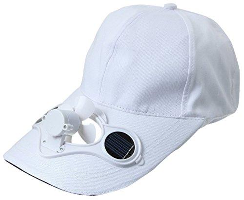 Y-BOA - Casquette Visière Avec Mini Ventilateur Solaire - Homme/ Femme Modern - Chapeau Voyage Sport/Golf/ Baseball (Blanac)