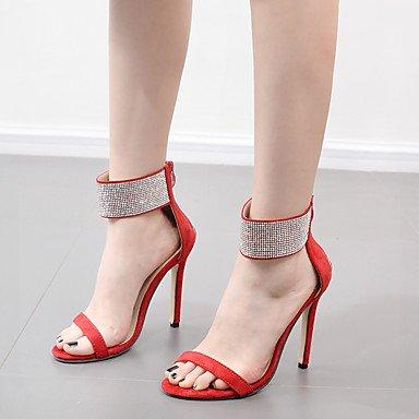 Sanmulyh Femmes Chaussures En Similicuir Printemps Automne Confort Nouveauté Bottes De Mode Bootie Sandales Talon Stiletto Hollow-out Pour Le Mariage Casual Rouge Noir Rouge