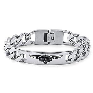 Herren Armband Edelstahl Harley Davidson