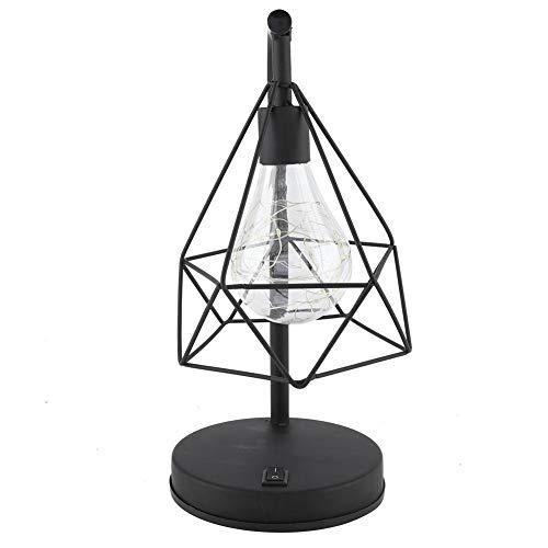 Schmiedeeisen-rahmen (AUNMAS Schreibtischlampe Klassische Moderne Schmiedeeisen Rahmen Esstischlampe Für Lesen Büro Wohnzimmer Nachttisch Schlafzimmer)