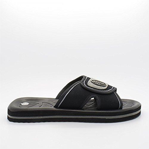 London Footwear ,  Herren hinten offen Schwarz