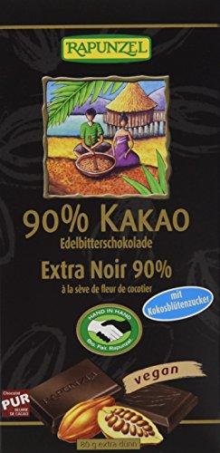 Preisvergleich Produktbild Rapunzel Bitterschokolade 90% Kakao mit Kokosblütenzucker HIH,  12er Pack (12 x 80 g)