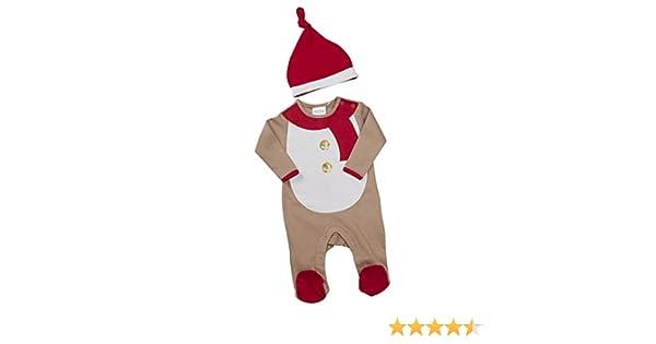e1e04495f Newborn Baby Funny Novelty Christmas Sleepsuit Unisex Babytown Sizes 0-9  Months With Hat: Amazon.co.uk: Clothing