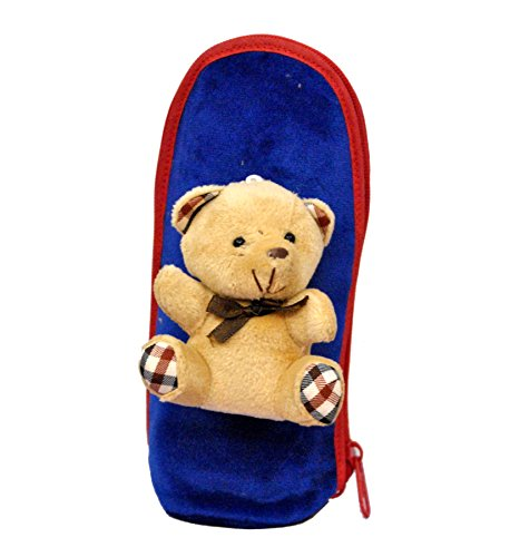 Bey Bee -Teddy Assorted Single Portable Infant Feeding Milk Food Bottle Warmer Bag Storage Holder (Upto 250ml each) (Royal Blue)