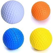 maltonyo174pcs suave espuma pelotas de golf pelotas de práctica de entrenamiento de golf (color blanco, naranja, azul, amarillo)