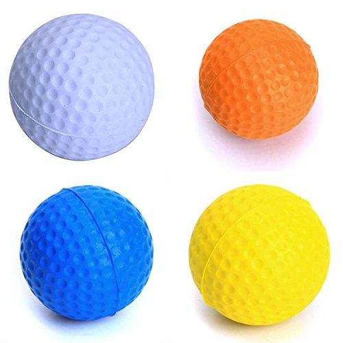 Jiaqinsheng 4pièces en mousse souple Balles de golf Balles de golf d'entraînement Pratiquer