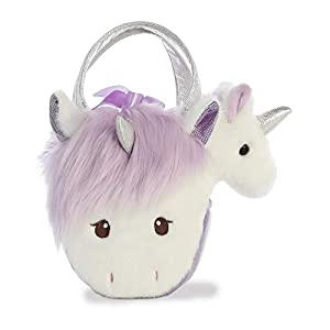 Aurora World 32857 - Peluche de Peluche, Color Blanco y Morado