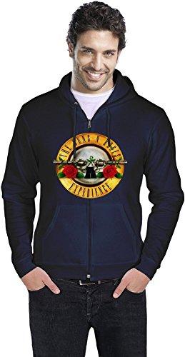Guns N Roses Experience Uomo cerniera con cappuccio Men Zipper Hoodie Stylish Fashion Fit Custom Apparel By Genuine Fan Merchandise Small