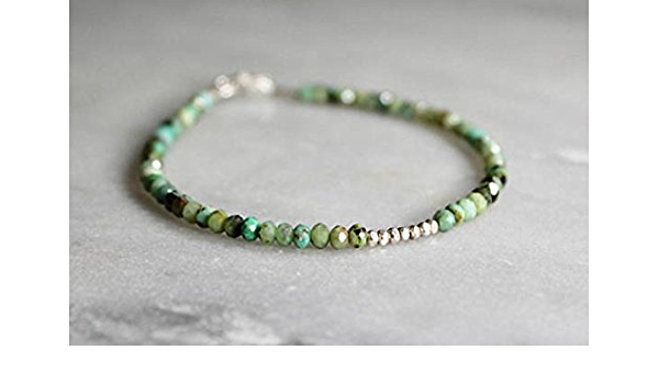 Turquoise Bracelet With Spiritual Meaning Turquoise Bead Bracelet Easy African Turquoise Bead Shamballa Bracelet With Gold Or Silver Plated 3 4 Mm Amazon De Schmuck
