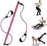Pilates Stick Belle Natiche, Yoga Training Shaping Hip Fasce Trainer di Resistenza di Esercitazione Pratica Braccia, Gambe, Spalle, AbdomenFitness Attrezzature Corpo Intero Esercizio (Color : Red)