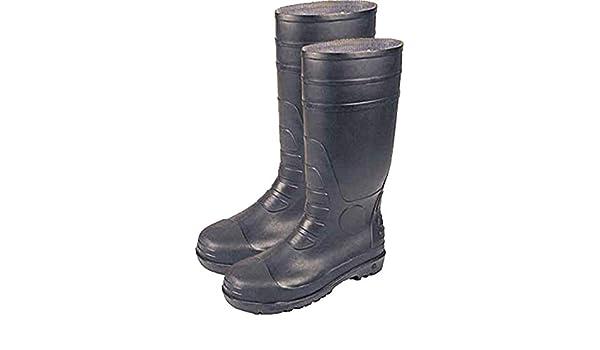 NEUF pied sécurité Bottes en caoutchouc noir PVC nitrile