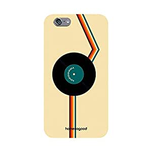 HomeSoGood Musical Gramophone Record Black 3D Mobile Case For iPhone 6 (Back Cover)