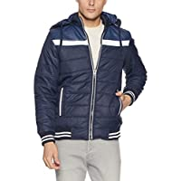 Qube by Fort Collins Men's Bomber Jacket (1256_Xl_Navy)