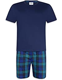137467cbdd iceBoo® Mens 2 Piece Pyjama Shorts Set with Short Sleeve T Shirt Nightwear  Summer Loungewear