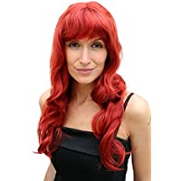 WIG ME UP ® - PW0193-135# - Peluca ROJA, larga, ondulada