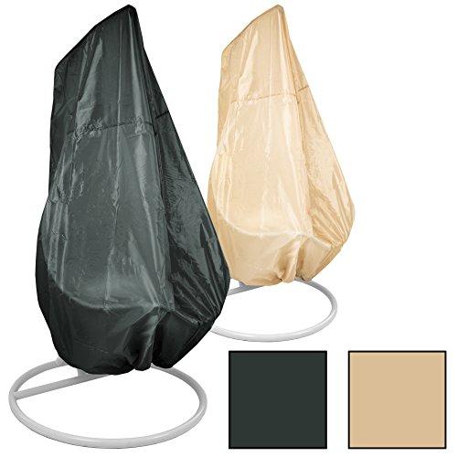 Estexo® Abdeckhaube Passend für Einsitzer-Hängesessel, Gartenmöbelhülle, Abdeckung, Schutzhülle, Schutzhaube (Beige)