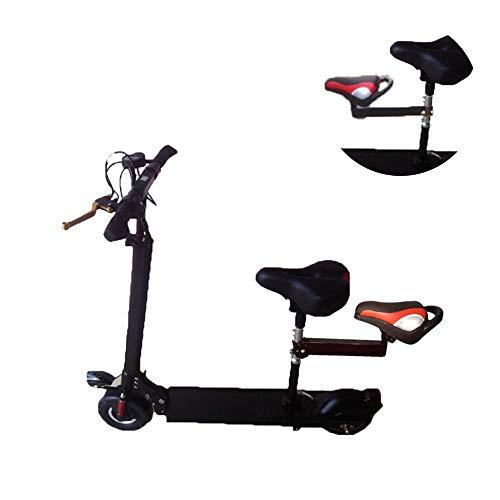XULONG Elektroroller Erwachsenensitz, ausgestattet mit Baby-Vordersitz Mini-Motorroller-Kindersitz hinten, auf und ab verstellbar Geeignet für Sitzrohr mit 2,8-3,5 cm Länge