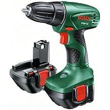 Bosch PSR 12 + 51 - Taladro (batería 12V, 1,4 kg, Negro, Verde)