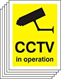 CCTV IN OPERATION CCTV STICKERS X5 STICKER SIGNS 200x150mm