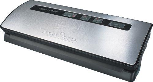 Proficook VK 1015 - Envasadora de alimentos al vacío automática, caudal de 12 litros/m, 120 W, color gris y negro