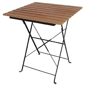 Bolero GJ765finto legno tavolo da bistrot, 600mm, argento