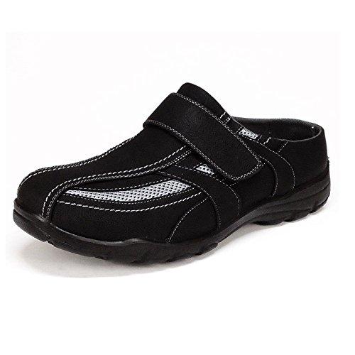 Herren Clogs Sabots Slipper (155B) Sneaker Schlappen Pantoletten Schuhe Neu Schwarz