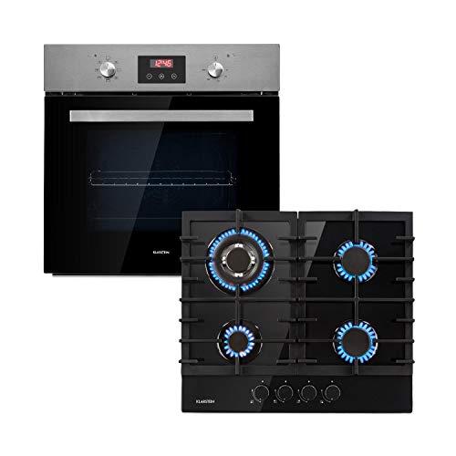 Klarstein Kalahari Ignito lote de horno - Horno y fogones para encajar en la cocina, De gas y eléctrico...