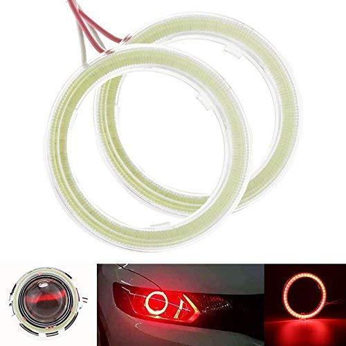 TABEN Cercles lumineux Angel Eyes à Led COB 45SMD, phares de voiture avec halo lumineux de 60 mm et 6500K et cache de protection, DC12 V (1 paire)