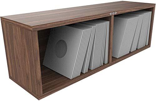 Zomo VS-Box 7/200 - Módulo para discos de vinilo (madera de nogal)
