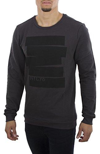 SOHO Herren Sweatpullover Sweatshirt Pullover Gr. S, M, L, XL, XXL 100% Baumwolle New York (XL, Dark Grey)