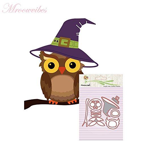 cinnamou Halloween Metall Schneiden stirbt Schablonen - DIY Scrapbooking Prägepapier Karten Album Tagebuch Schablone (Hausgemachte Cookies Einfache Halloween)