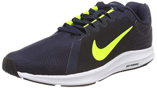 Nike Downshifter 8, Scarpe da Ginnastica Basse Uomo, Multicolore (Light Carbon/Volt/Obsidian/Black 001), 40 EU