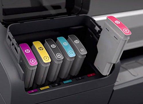 Hewlett Packard 936568 Cartouche d'encre d'origine compatible avec Imprimante DesignJet Z2600 24-in PostScript/DesignJet Z5600 44-in PostScript Rouge