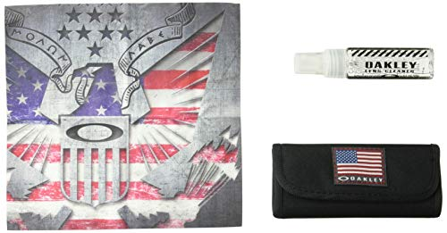 Oakley Lens Cleaning Kit (Oakley Unisex-Adult Usa Flag Lens Cleaning Kit Replacement Lenses, USA Flag, 0 mm)