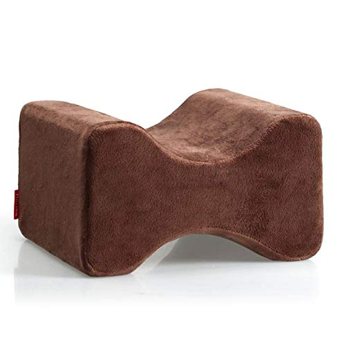 Memory Foam Kniekissen, Beine Stellungskissen, Contour Kniekissen für Ischias Relief,Brown,27 * 21 * 16cm